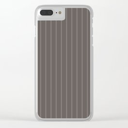 Grey-brown striped Clear iPhone Case