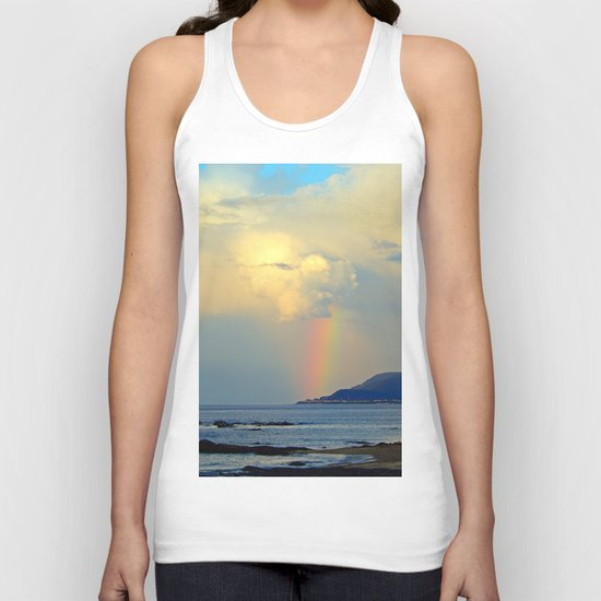 Storm Drops a Rainbow onto Village Unisex Tank Top