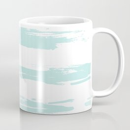 Swipe Stripe Succulent Blue and White Coffee Mug