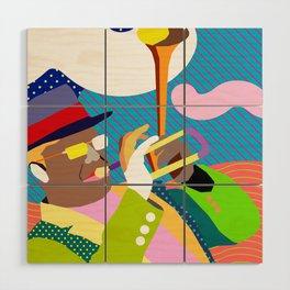 Bent Trumpet Wood Wall Art