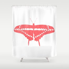 Textured butterfly Shower Curtain