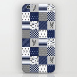 Raven House cheater quilt patchwork wizarding witches and wizards iPhone Skin