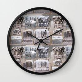 Roman Rubble Pattern Wall Clock