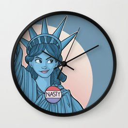 Nasty Lady Liberty Wall Clock