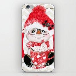 JOY - PEPPERMINT SNOWMAN iPhone Skin