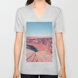Desert at Horseshoe Bend, Arizona, USA Unisex V-Neck