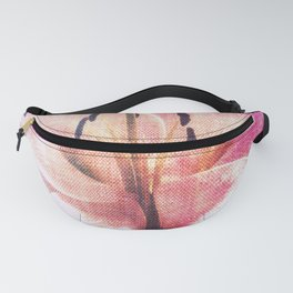 Pink Ripped Fabric Lily Fanny Pack