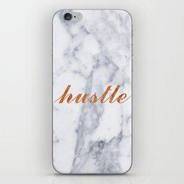 Hustle Marble Brass Copper Bronze iPhone Skin