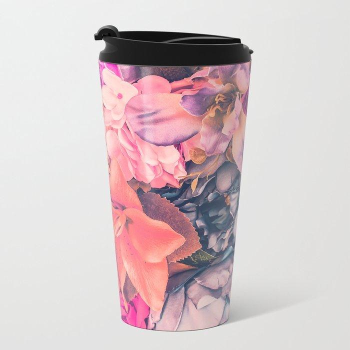 Flower color 4 Metal Travel Mug