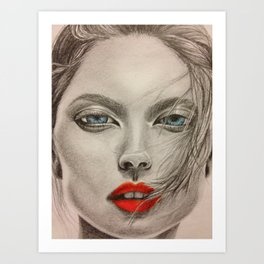 girl pop Art Print