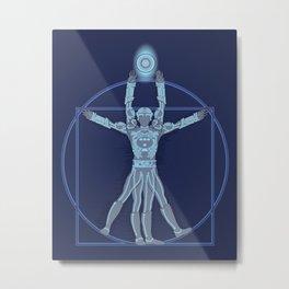 Vitruvian Tron Metal Print
