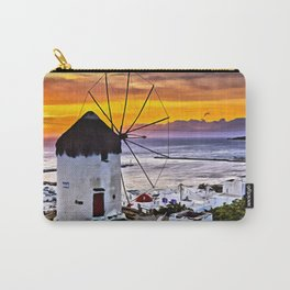 Sunset at Mykonos Windmills Carry-All Pouch