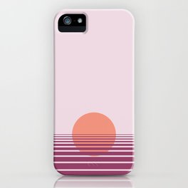 Pink sunset print - Girls Gang Prints iPhone Case
