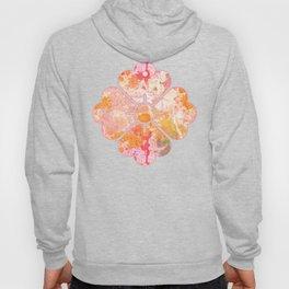 Abstract Paint Splatters Pink & Orange Hoody