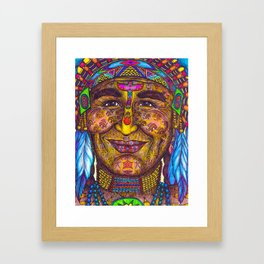 Wisdom Keeper Color #31 (Leadership) Framed Art Print