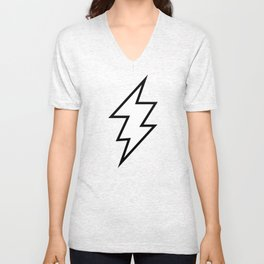 Zeus Lightning Bolt Unisex V-Neck