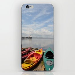 Bay Landscape with Canoe  iPhone Skin