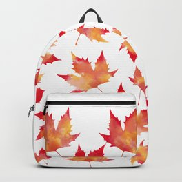 Maple leaves white Backpack