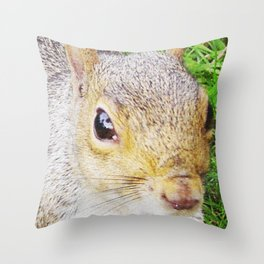 The many faces of Squirrel 5 Throw Pillow