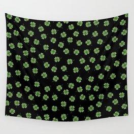 Dark Green Clover Wall Tapestry