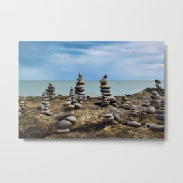 Balancing Rocks Wall Art Ocean Metal Print