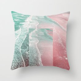 Pink Sands Throw Pillow
