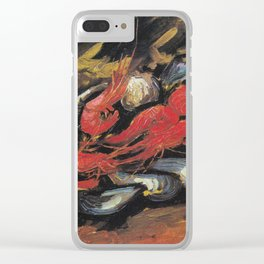 Vincent Van Gogh Still Life Mussels and Shrimps 1886 Clear iPhone Case