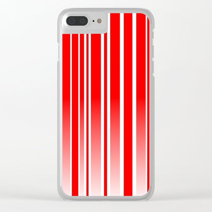 Red Track Clear iPhone Case