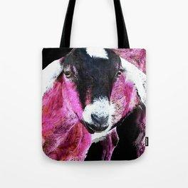 Pop Art Goat - Pink - Sharon Cummings Tote Bag