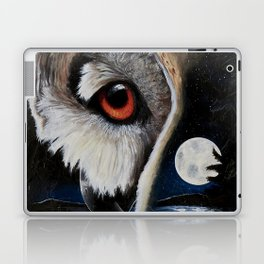 Eagle Owl - The Watcher - by LiliFlore Laptop & iPad Skin