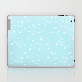 Merry Christmas- Teal Festive Stars X-Mas Pattern Laptop & iPad Skin