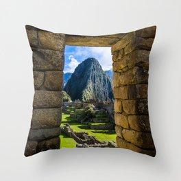 Doorways of Machu Picchu Throw Pillow