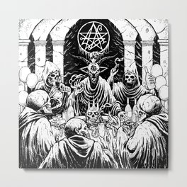 Baphomet Birthday Bash Metal Print