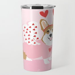 Corgi love costume cupid dog valentines day welsh corgis Travel Mug