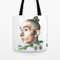 ahs Tote Bags featuring Pepper -AHS by MELCHOMM