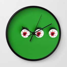 Green monster Wall Clock