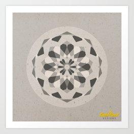 Mandala no.1 Grey Art Print