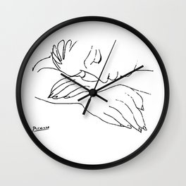 Pablo Picasso War and Piece Series Artwork, Line Drawing Reproduction Wall Clock