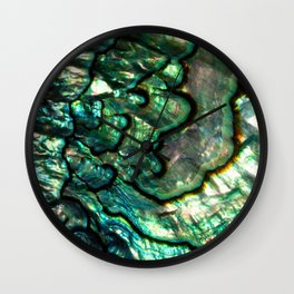 Shimmering Green Abalone Mother of Pearl Wall Clock