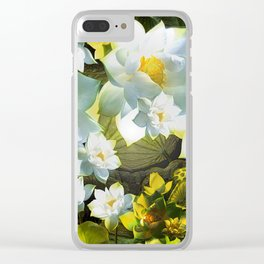 """""""White flowers forest"""" Clear iPhone Case"""