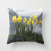 switzerland Throw Pillows featuring Switzerland by NatalieBoBatalie