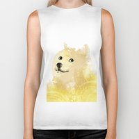 doge Biker Tanks featuring Doge by EtOfficina