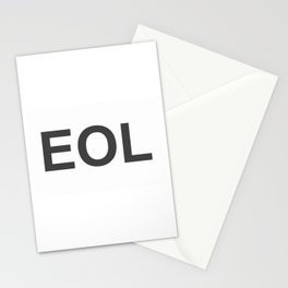 EOL End Of Life Stationery Cards