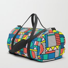 Memphis Color Block Duffle Bag