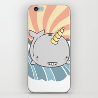 narwhal iPhone & iPod Skins featuring Narwhal by Crywolf