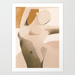 Abstract Art Nude Art Print