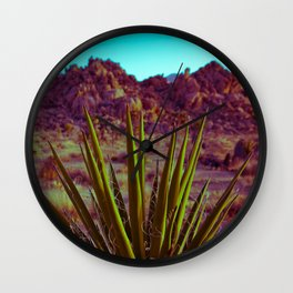 Bright Cactus Wall Clock