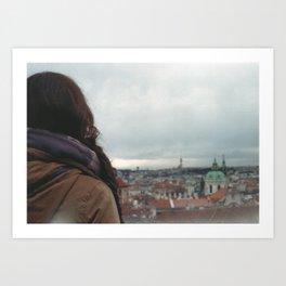 My sister in Prague Art Print