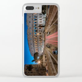 Colosseum at dawn Clear iPhone Case