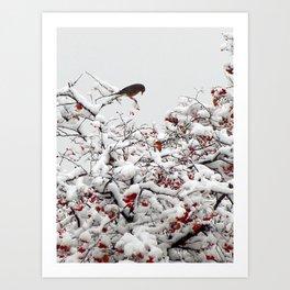 A Little Bird So Cheerfully Sings Art Print